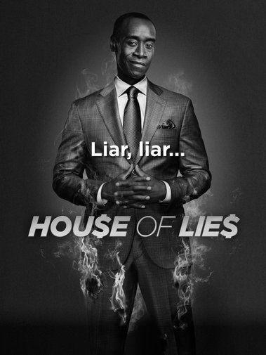 House Of Lies black and white poster