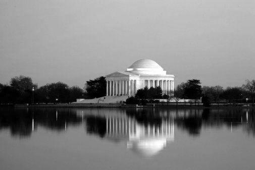 Jefferson Memorial black and white poster
