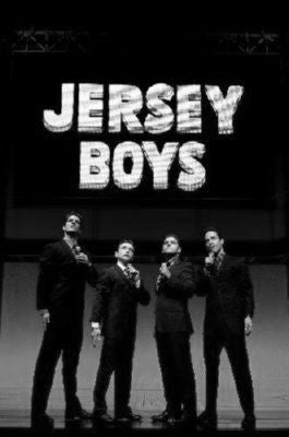 Jersey Boys black and white poster