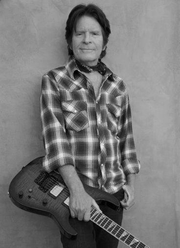 John Fogerty black and white poster