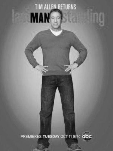 Last Man Standing black and white poster