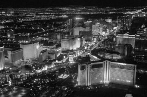 Las Vegas black and white poster
