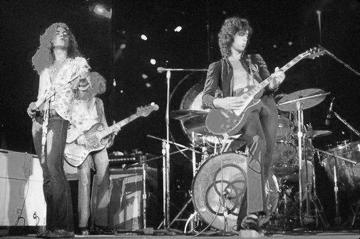 Led Zeppelin black and white poster