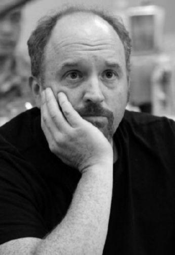 Louis Ck black and white poster