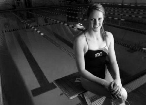 Missy Franklin black and white poster