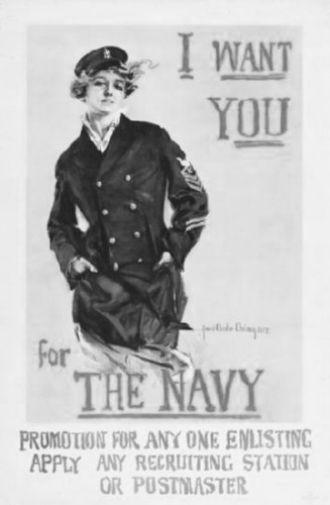 Navy Recruitment black and white poster