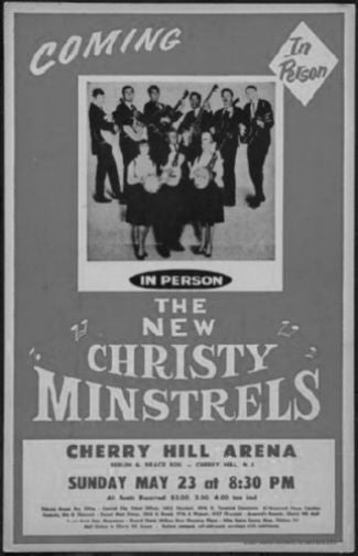 New Christy Minstrels black and white poster