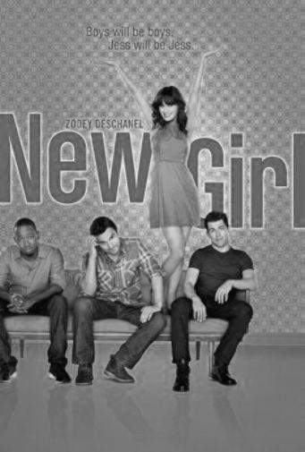 New Girl black and white poster