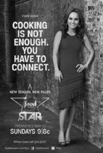 Next Food Network Star black and white poster