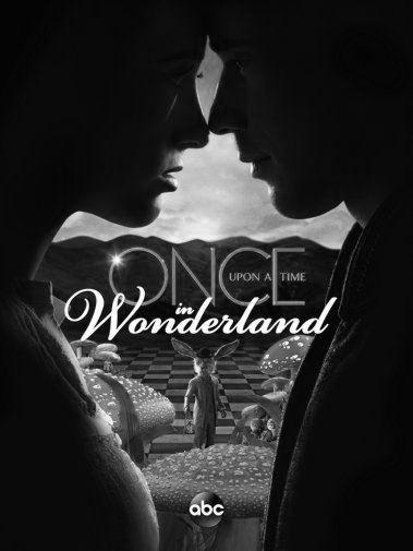 Once Upon A Time In Wonderland black and white poster