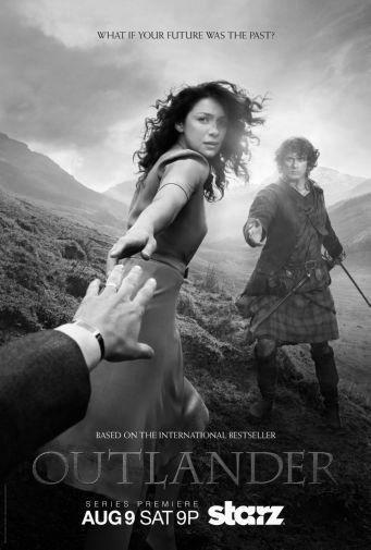 Outlander black and white poster