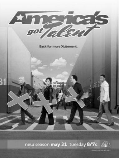 Americas Got Talent Poster Black and White Poster 16