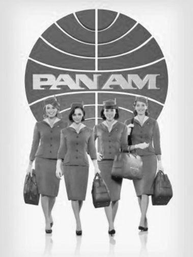 Pan Am black and white poster