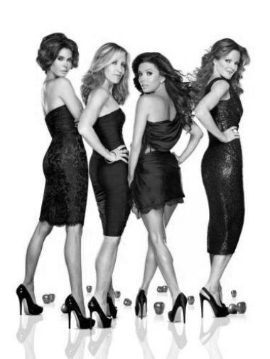 Desperate Housewives black and white poster