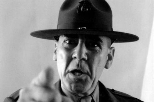 R Lee Ermey poster tin sign Wall Art