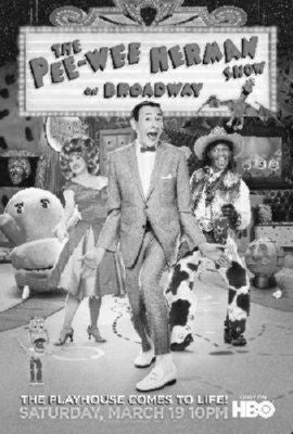 Pee Wee Herman Broadway black and white poster