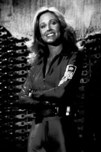 Erin Gray black and white poster