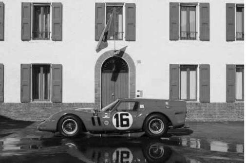 Ferrari 250 Gto black and white poster