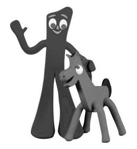 Gumby black and white poster