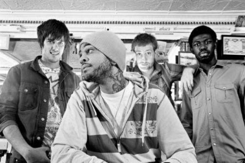 Gym Class Heroes black and white poster