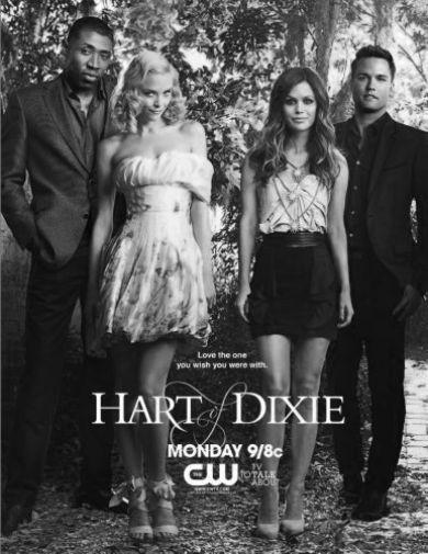 Hart Of Dixie black and white poster