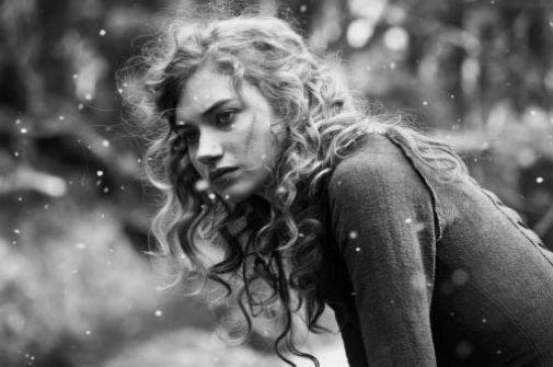 Imogen Poots black and white poster