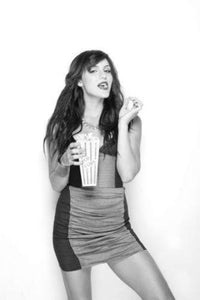 Katharine Mcphee black and white poster