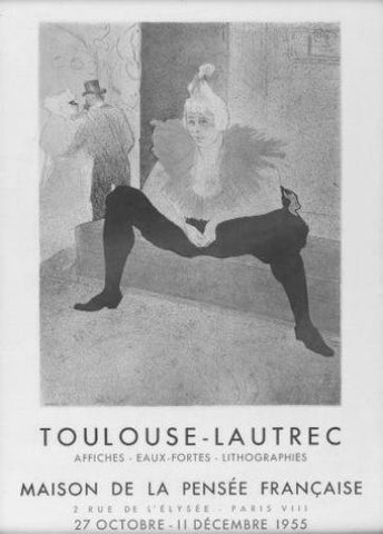 Toulouse Lautrec Exhibition black and white poster