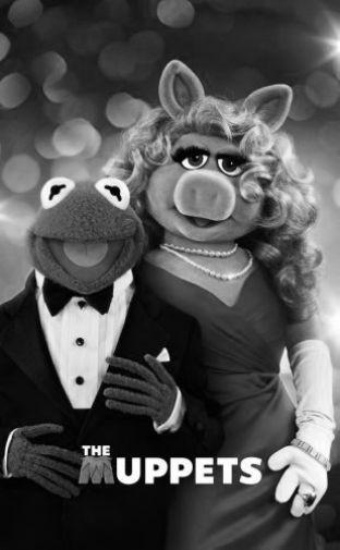 Muppets black and white poster