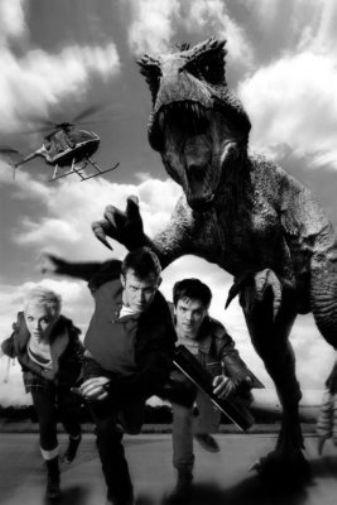 Primeval black and white poster