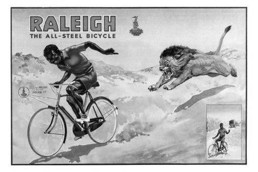 Raleigh Bicycles black and white poster
