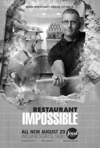 Restaurant Impossible black and white poster