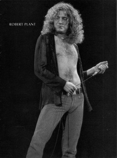 Robert Plant black and white poster