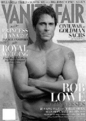 Rob Lowe Vanity Fair poster tin sign Wall Art