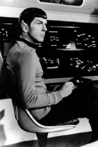 Spock black and white poster