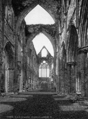 Tintern Abbey black and white poster