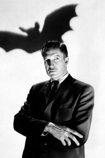 Vincent Price black and white poster