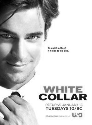 White Collar black and white poster