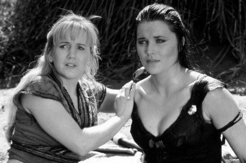 Xena And Gabrielle black and white poster