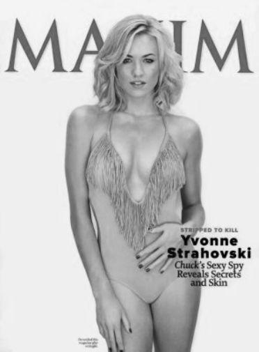 Yvonne Strahovski black and white poster