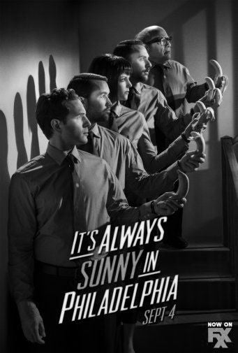 Always Sunny In Philadelphia Poster Black and White Mini Poster 11
