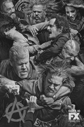 Sons Of Anarchy Black and White Poster 24