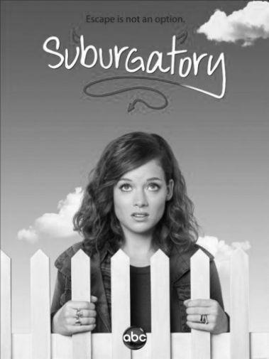 Suburgatory black and white poster
