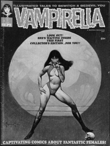 Vampirella poster tin sign Wall Art