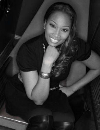 Yolanda Adams black and white poster