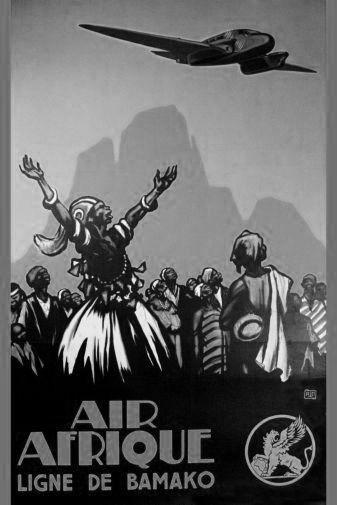 Air Afrique poster tin sign Wall Art