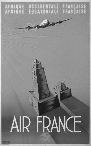 Air France Poster Black and White Poster 16