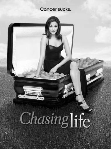 Chasing Life black and white poster
