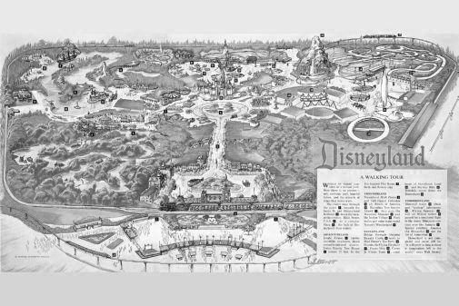 Disneyland Park Map poster tin sign Wall Art