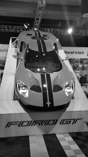Ford Gt 2016 black and white poster